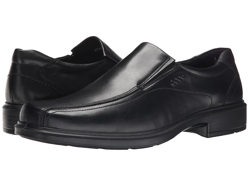 ECCO - Helsinki Slip On (Black Santiago Full-Grain Leather) Mens Slip-on Dress Shoes