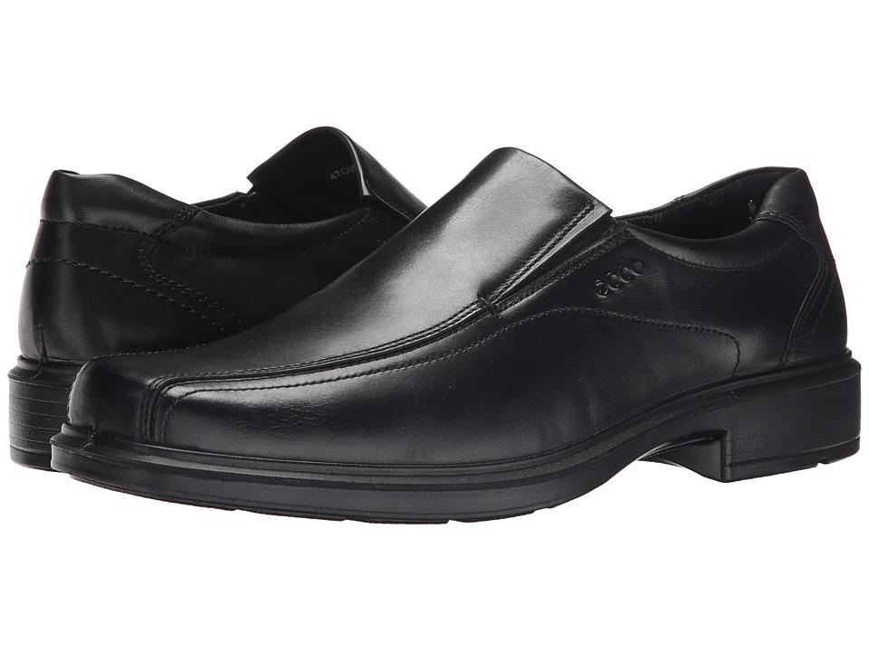ECCO - Helsinki Slip On (Black Santiago Full-Grain Leather) Men