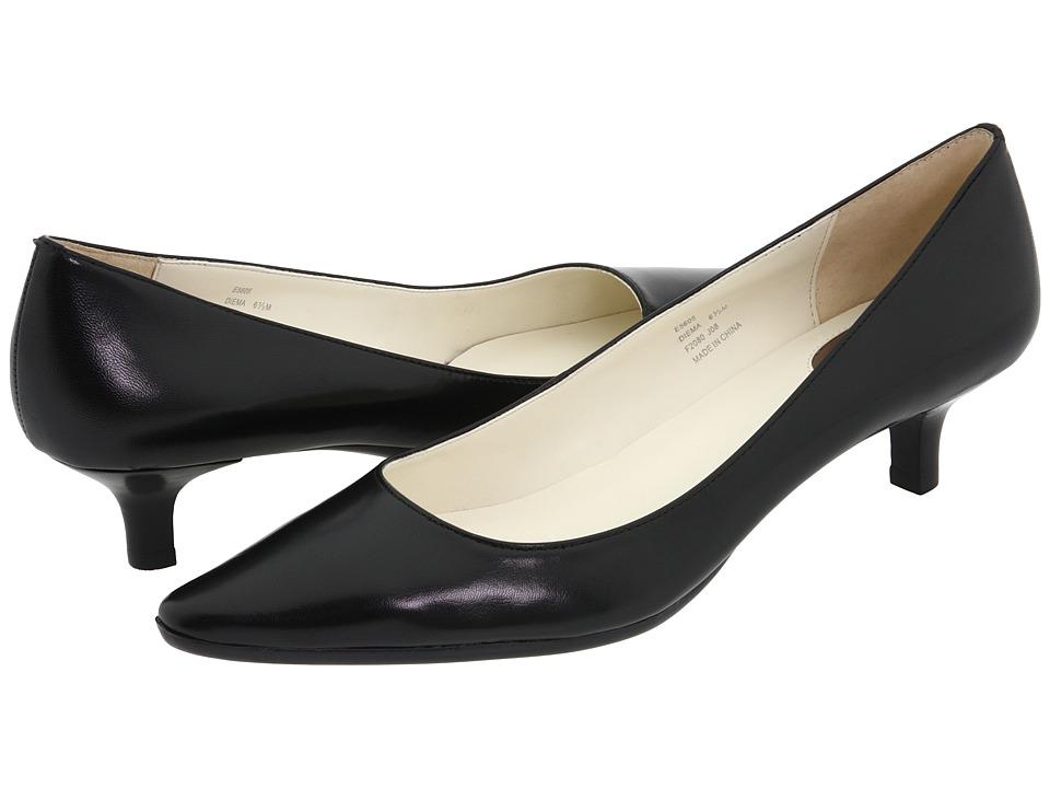 Calvin Klein Diema (Black Leather) Women's 1-2 inch heel Shoes