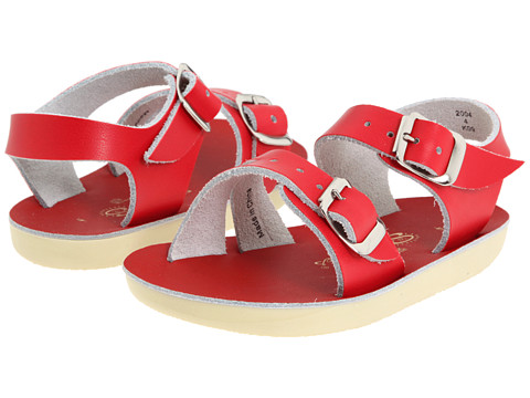 Salt Water Sandal by Hoy Shoes Sun-San - Sea Wees (Infant/Toddler) - Red