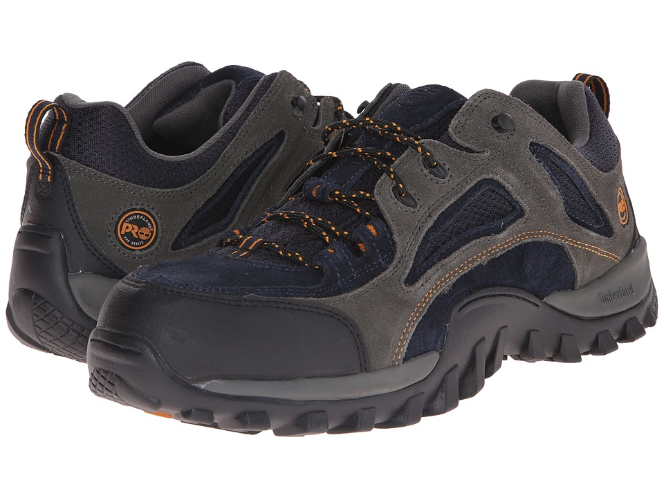 Timberland PRO - Mudsill Low Steel Toe (Titanium/Sapphire Leather With Mesh) Men