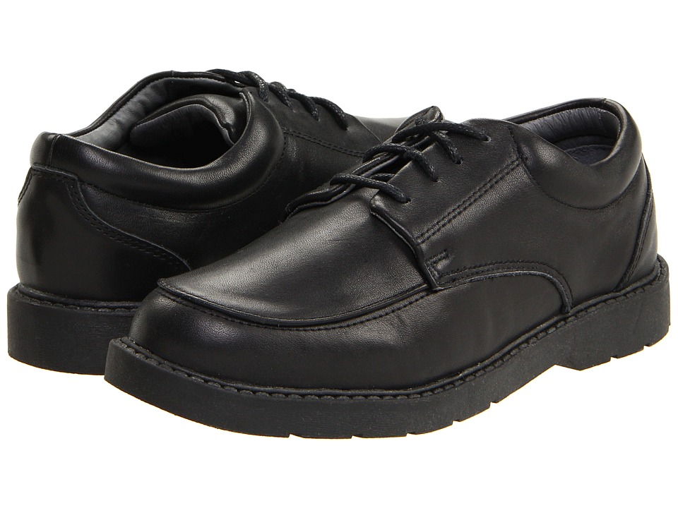School Issue Graduate (Toddler/Little Kid/Big Kid) (Black Leather) Boys Shoes