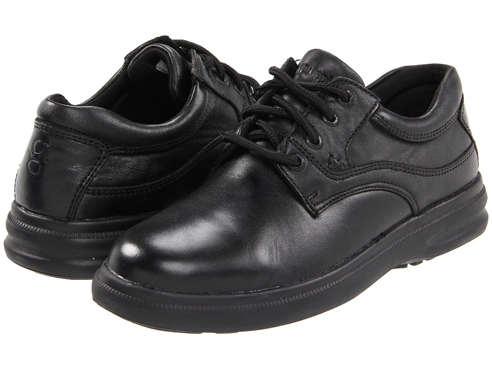 Hush Puppies - Glen (Black Leather) Men