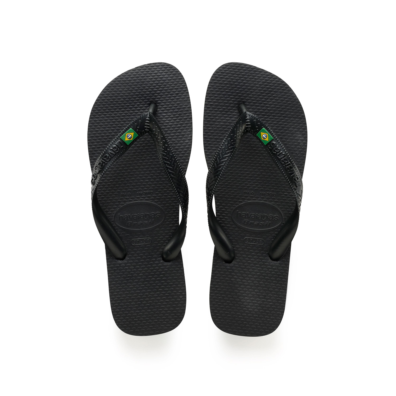 Havaianas Brasil Flip Flops Black Mens Sandals