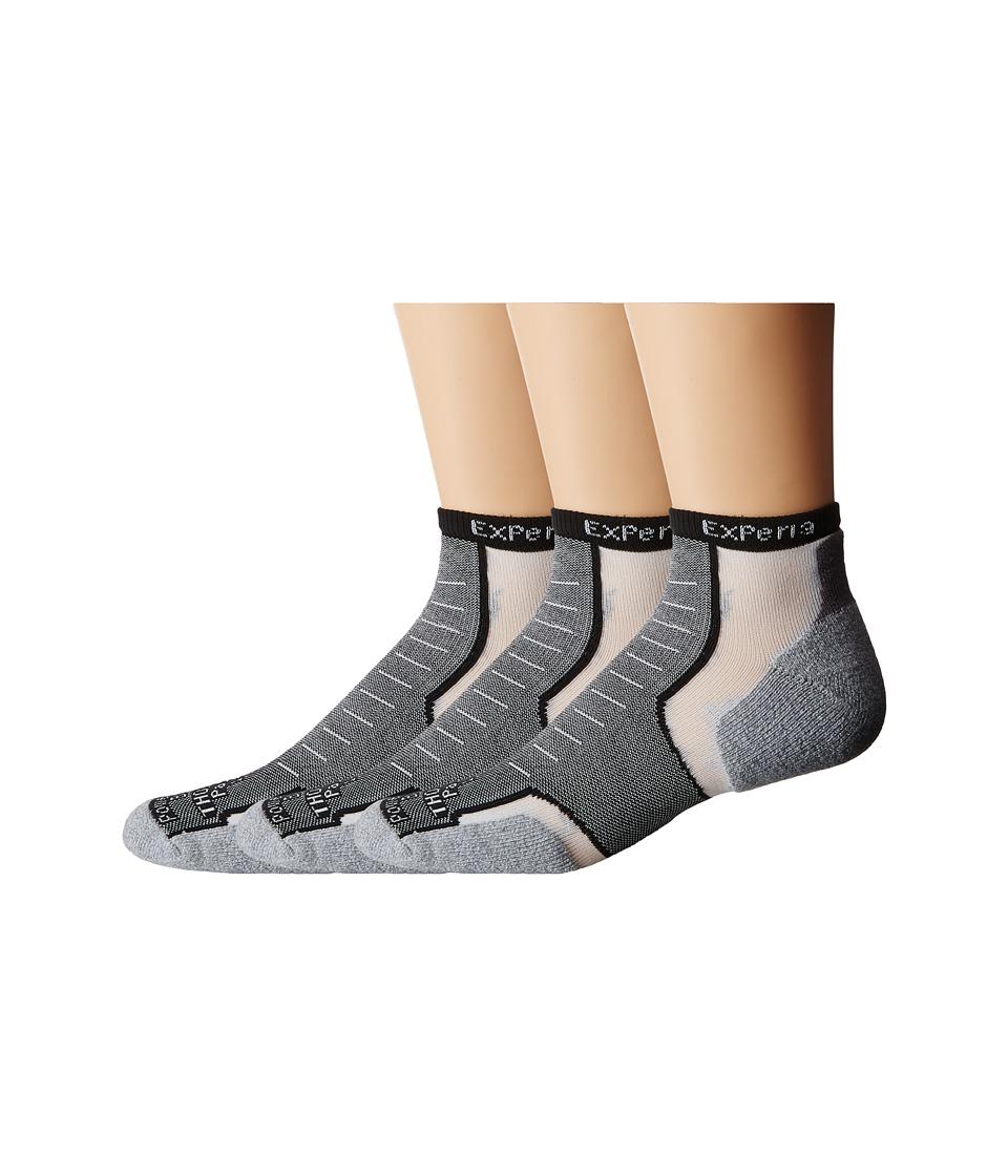 Thorlos Experia Micro Mini 3 pair Pack Black Low Cut Socks Shoes