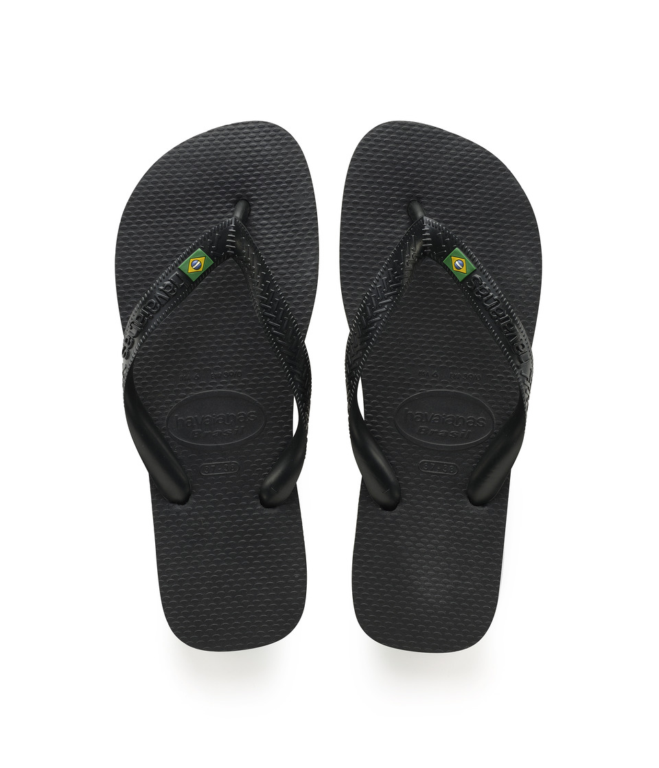 Havaianas Brazil Flip Flops (Black) Sandals