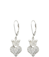 King Baby Studio - Small 3D Crowned Heart Lever Back Earrings