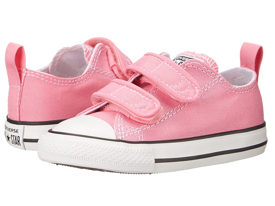 Converse Kids - Chuck Taylor 2V Ox (Infant/Toddler) (Pink) Girls Shoes