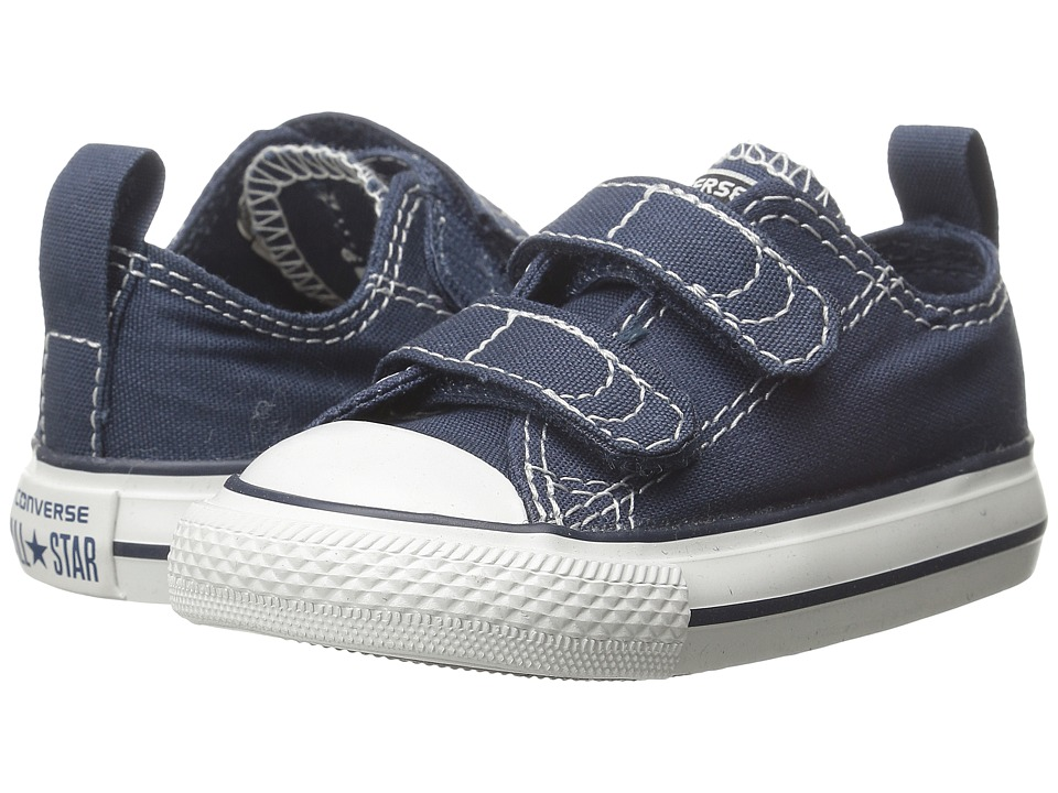 Converse Kids Chuck Taylor 2V Ox (Infant/Toddler) (Athletic Navy) Kids Shoes