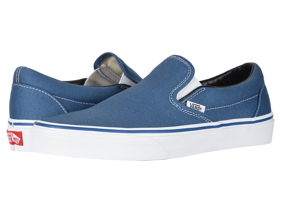Vans Classic Slip-On Core Classics (Navy (Canvas)) Shoes