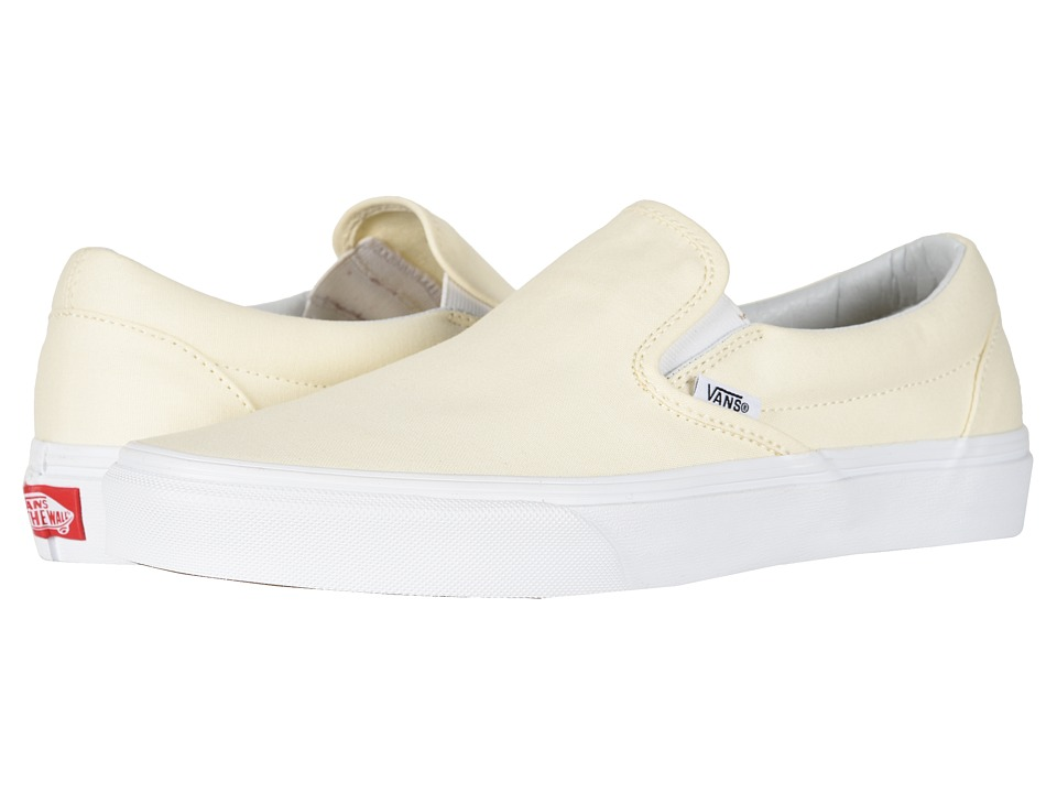 Vans Classic Slip-On Core Classics (White (Canvas)) Shoes