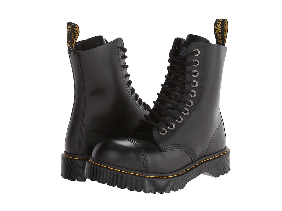 Dr. Martens - 8761 (Black Fine Haircell) Mens Lace-up Boots
