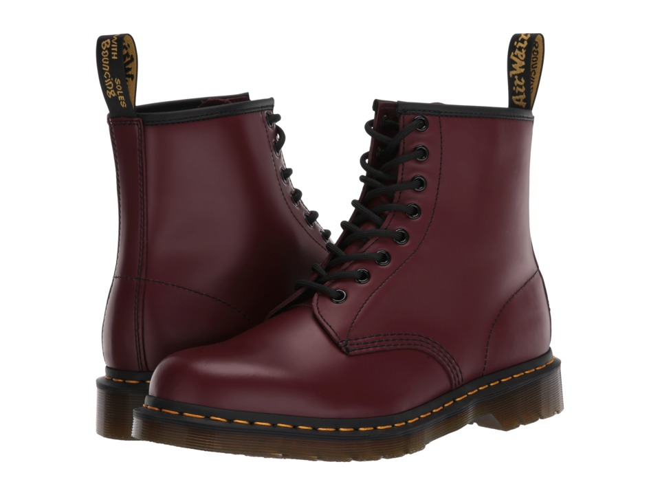 Dr. Martens - 1460 (Cherry Red Smooth) Lace-up Boots
