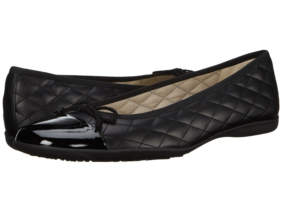 French Sole PassportR (Black Patent/Black Leather) Women'...