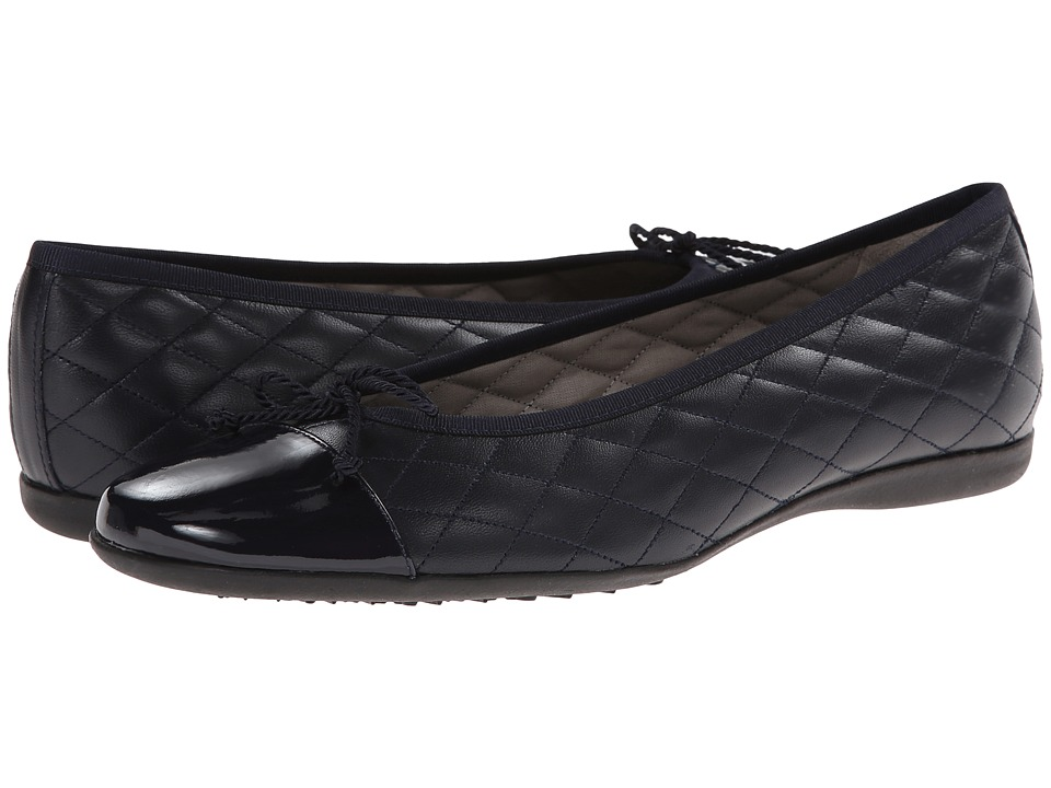 French Sole PassportR (Navy Patent/Navy Leather) Women's ...