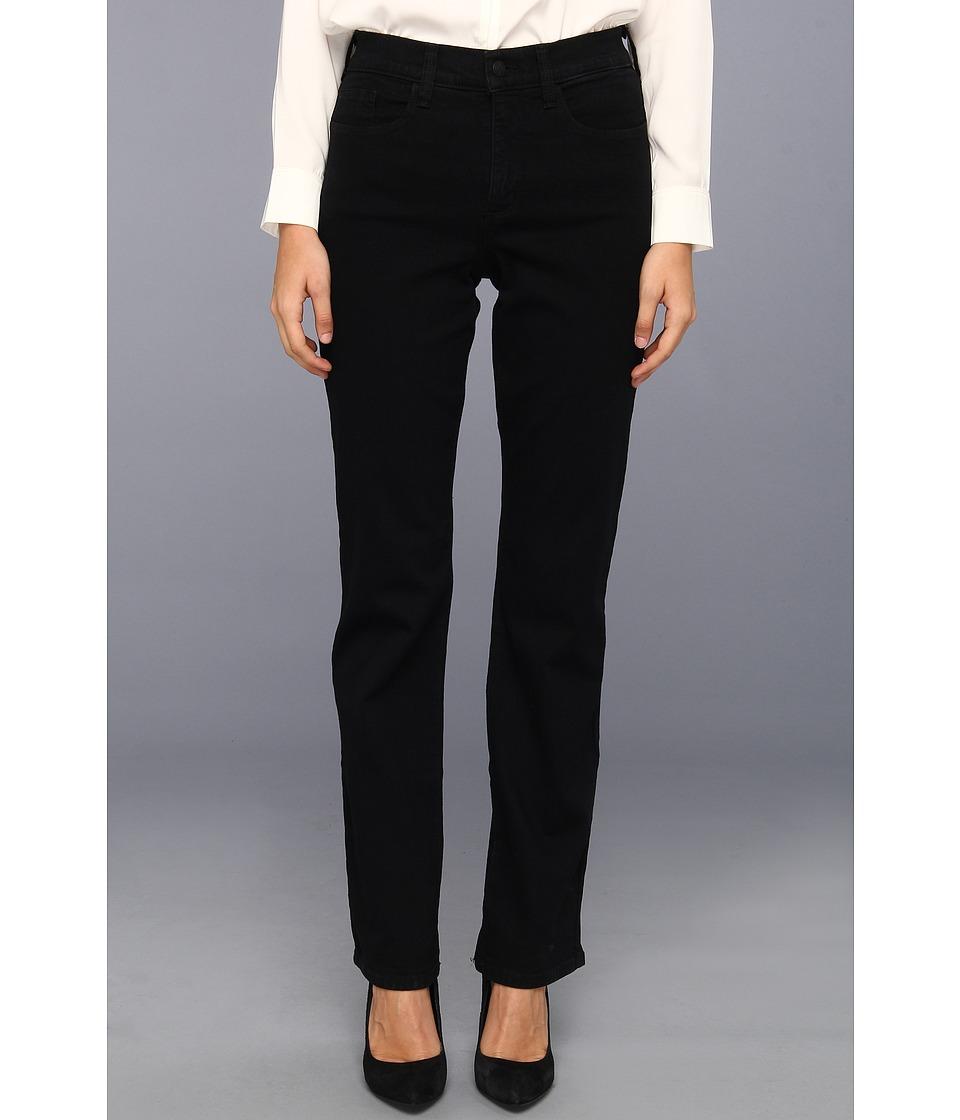 NYDJ Marilyn Straight Leg Classic Overdye Black Womens Jeans