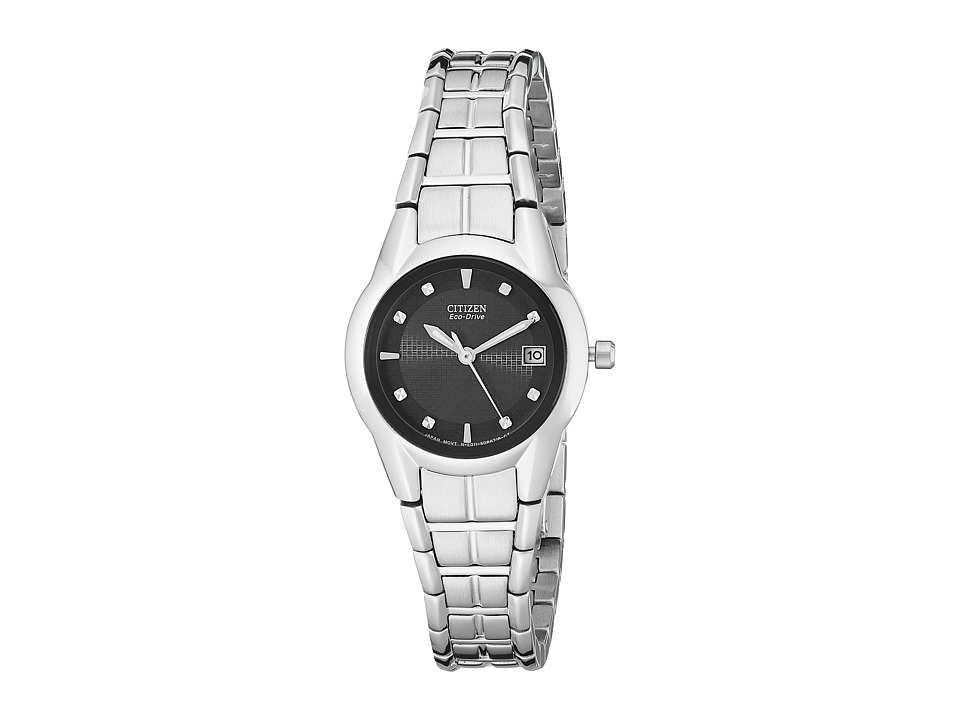 Citizen Watches - EW1410-50E Eco-Drive Stainless Steel Watch (Silver Bracelet/Black Dial) Dress Watches