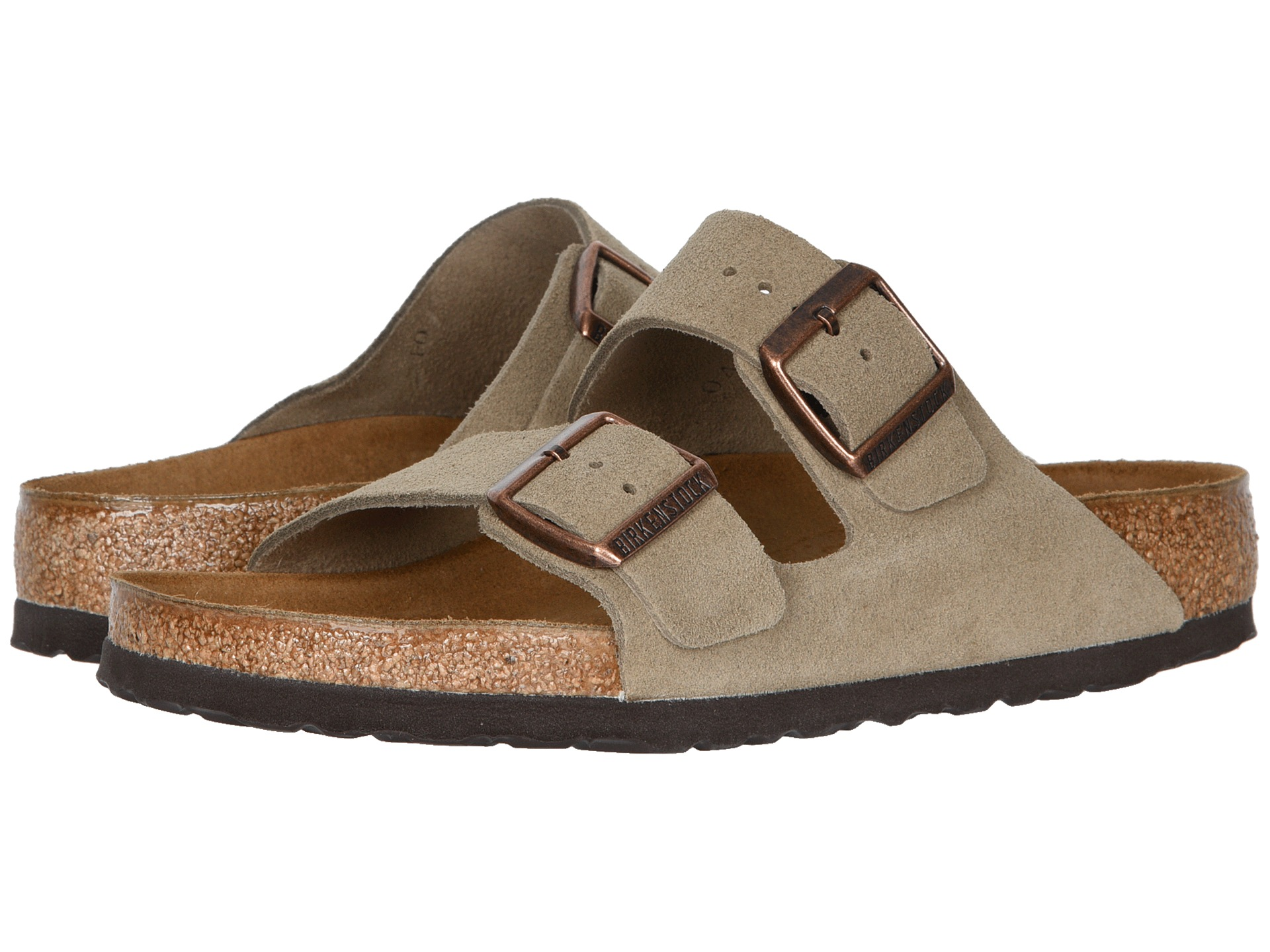 birkenstock mens arizona sandals taupe suede