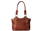 American West Over The Rainbow Zip Top Fashion Tote (Caramel)