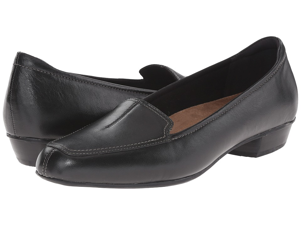Clarks - Timeless (Black Leather) Women's Slip on  Shoes