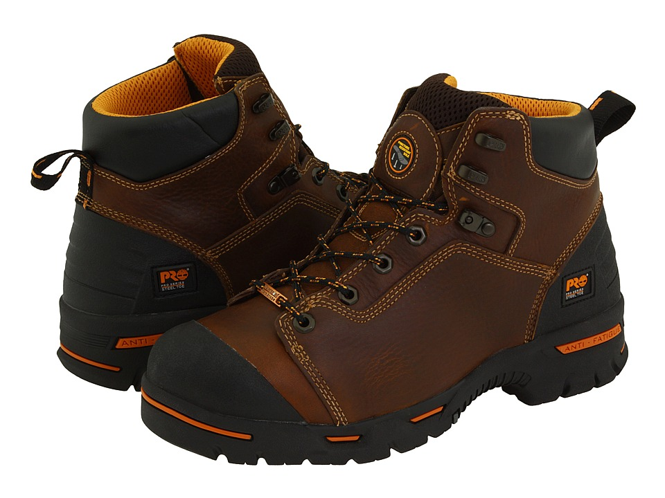 Timberland PRO - Endurance PR 6 Waterproof Steel Toe (Brown) Mens Work Lace-up Boots