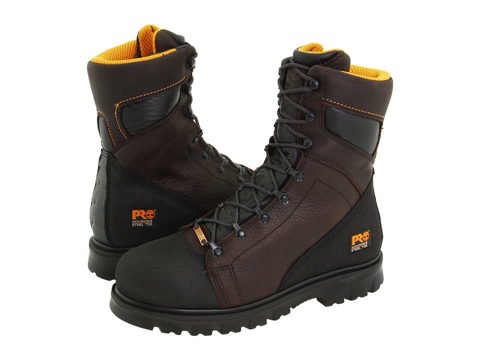 Timberland PRO - Rigmaster 8 Waterproof Steel Toe (Dark Brown/Black) Men