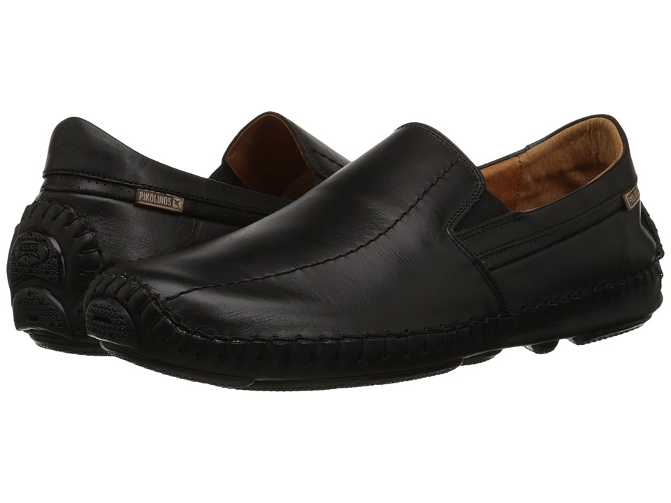 Pikolinos Jerez Moccasin 09Z-5956 (Black Leather) Men