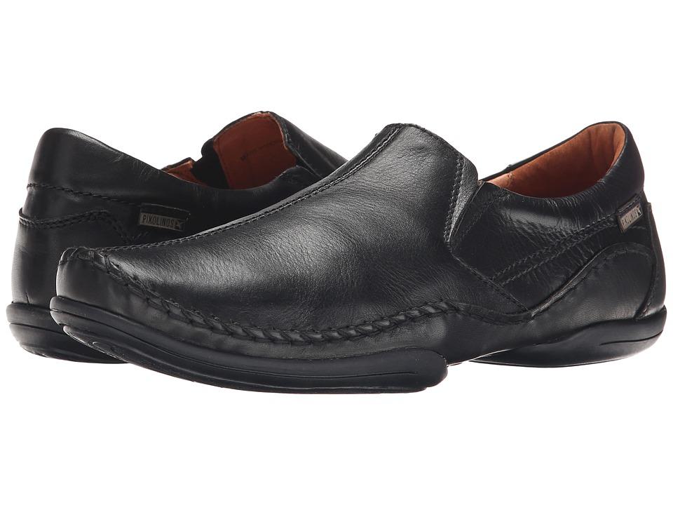 Pikolinos - Puerto Rico Center Seam 03A-6744 (Black Leather) Men