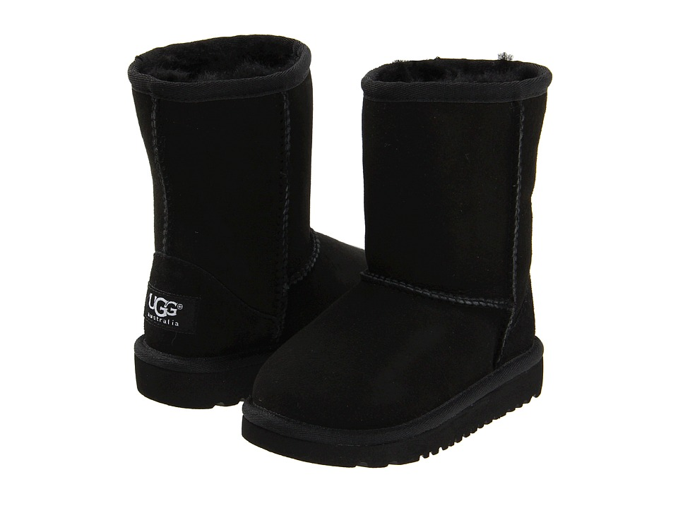 UGG Kids Classic Toddler/Little Kid Black Kids Shoes