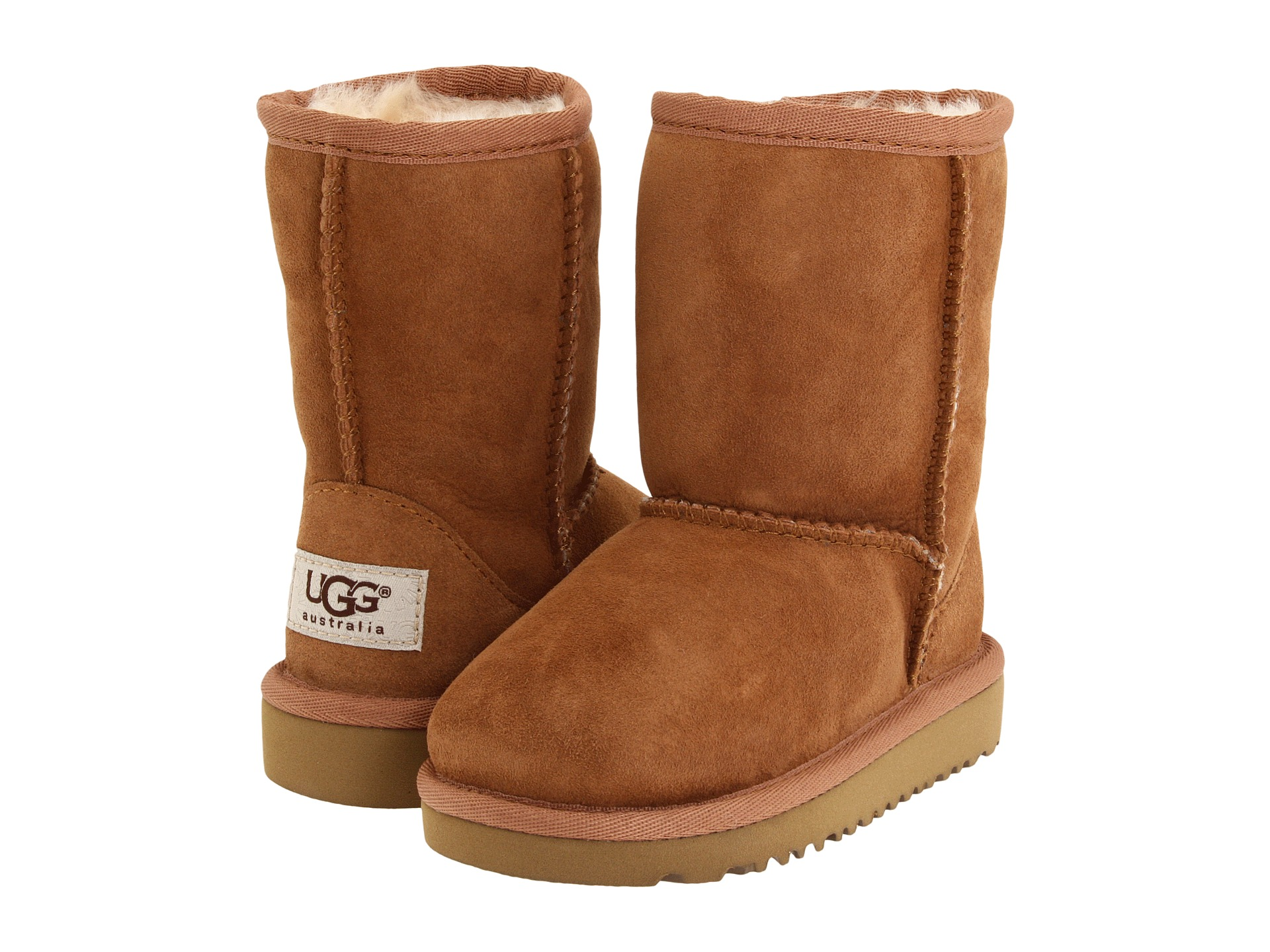 Today, the UGG Kids Collection flaunts the same style and comfort offered in the adult line. From slippers to boots to casual footwear, UGG Kids will pamper the feet of your infant, toddler or big kid.