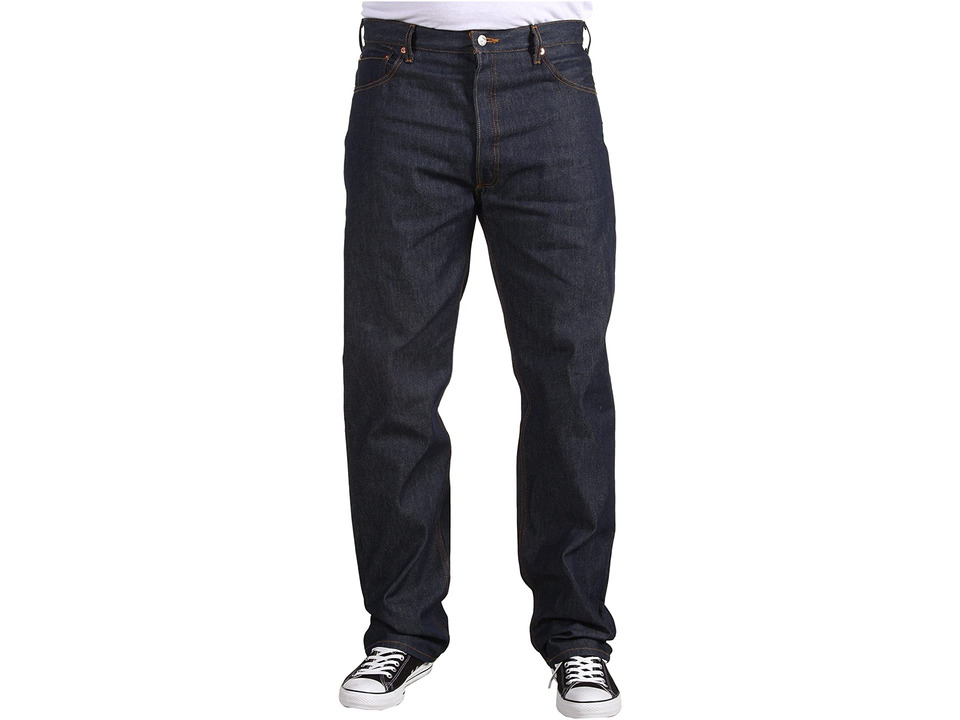 Levis(r) Big & Tall - Big Tall 501(r) Original Shrink-to-Fit Jeans (Rigid Shrink to Fit) Mens Jeans