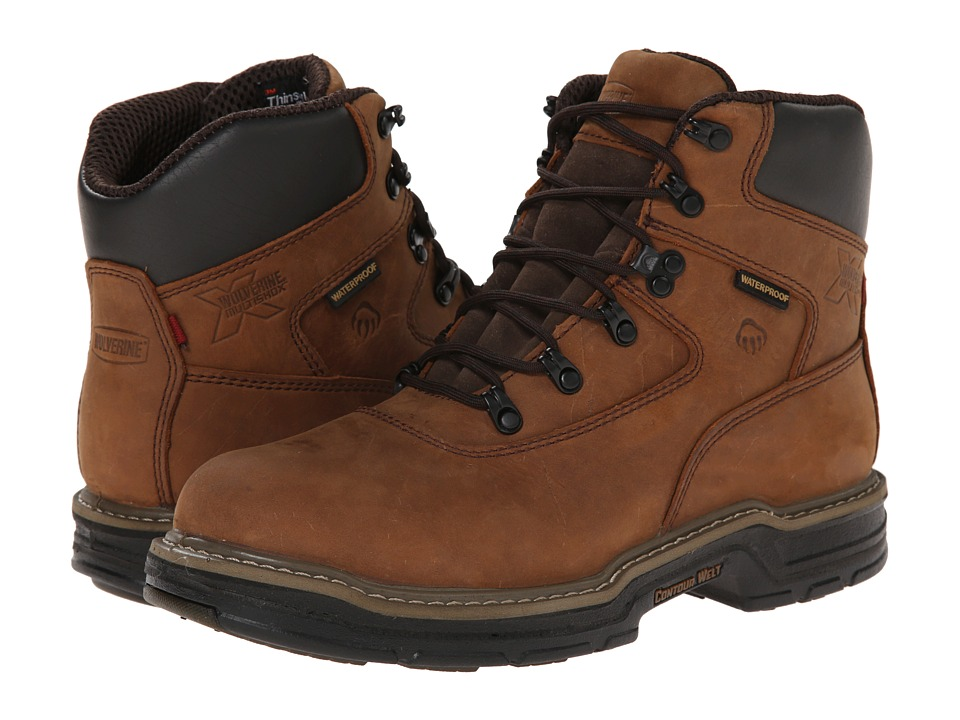 Wolverine Marauder Multishox Waterproof 6 (Brown) Men
