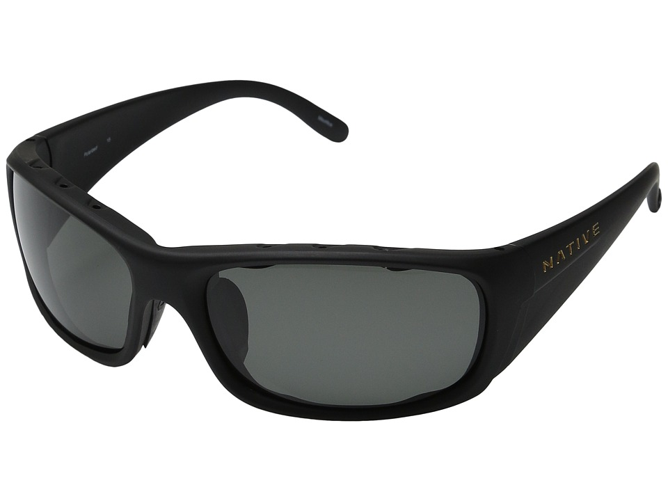 Native Eyewear - Bomber (Asphalt/Gray Lens) Sport Sunglasses