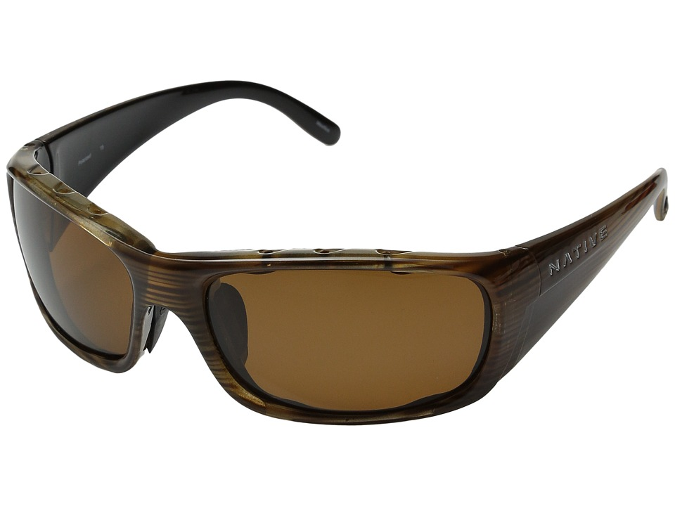 Native Eyewear Bomber (Wood/Brown Lens) Sport Sunglasses