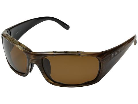 Native Eyewear Bomber - Wood/Brown Lens