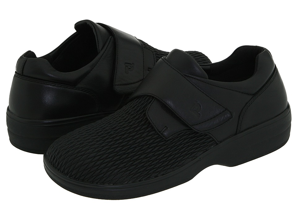 Propet - Olivia Medicare/HCPCS Code = A5500 Diabetic Shoe (Black) Womens Hook and Loop Shoes