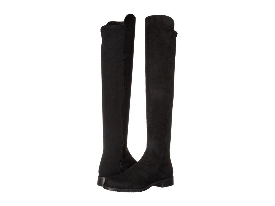 Stuart Weitzman 5050 (Black Suede) Women's Pull-on Boots