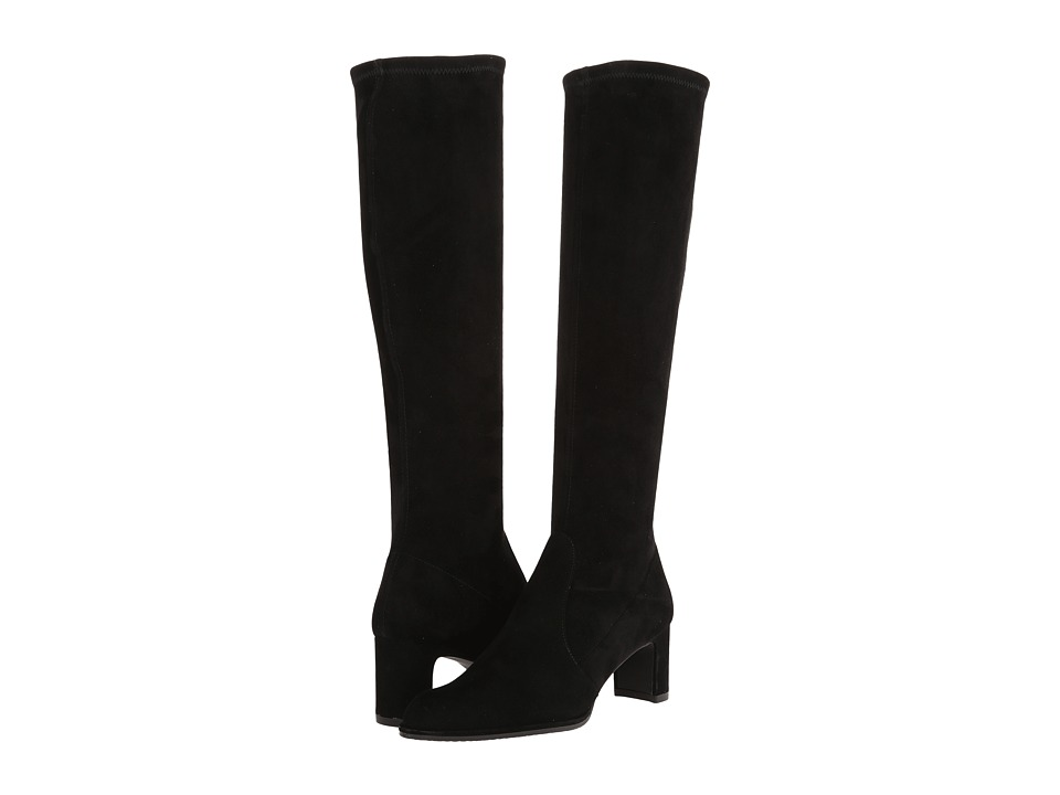 Stuart Weitzman Chicboot (Black Suede) Women's Boots