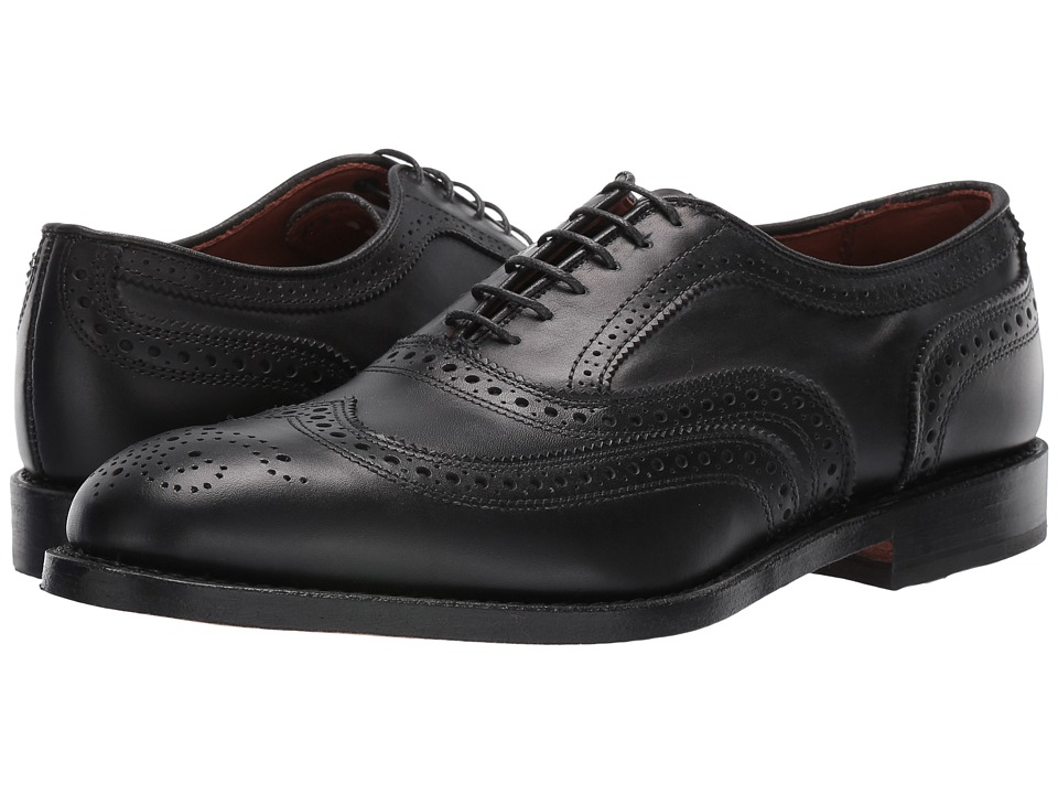 Allen Edmonds McAllister Black Calf Mens Lace Up Wing Tip Shoes