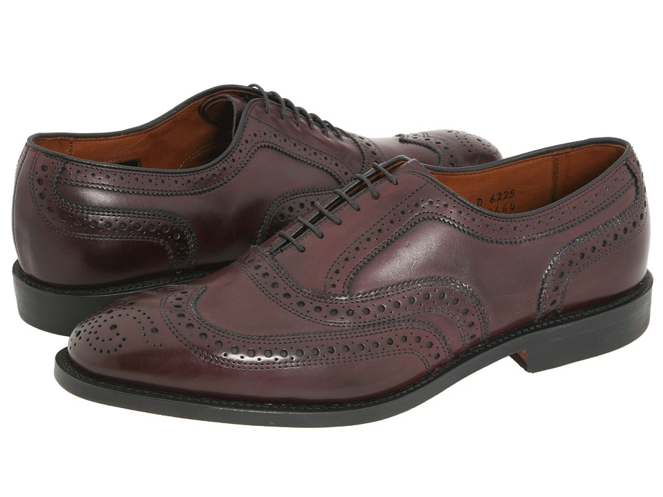 Allen Edmonds McAllister Merlot Burnished Calf Mens Lace Up Wing Tip Shoes