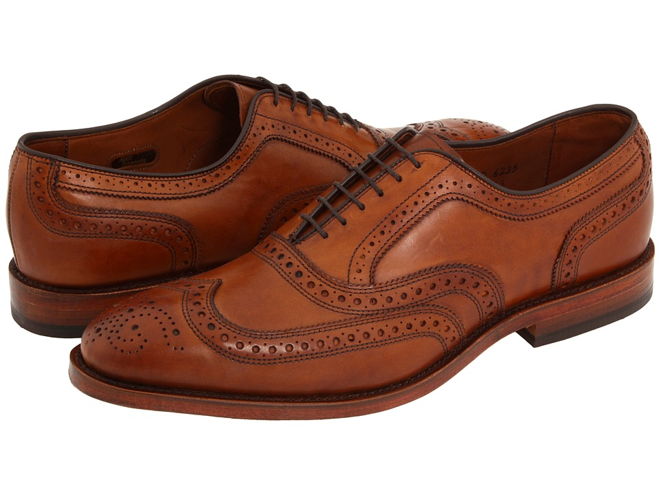 1950s Style Mens Shoes Allen-Edmonds - McAllister Walnut Calf Mens Lace Up Wing Tip Shoes $395.00 AT vintagedancer.com