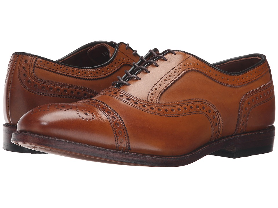 1930s Style Mens Shoes Allen-Edmonds - Strand Walnut Calf Mens Lace Up Cap Toe Shoes $395.00 AT vintagedancer.com