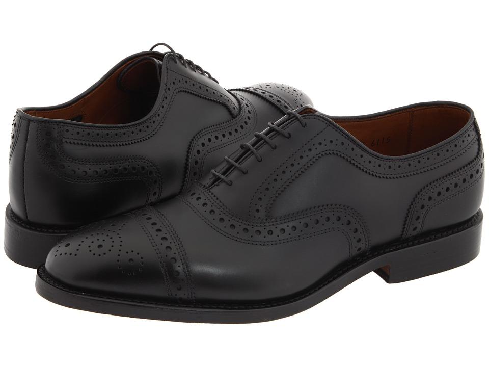 Allen Edmonds Strand (Black Calf) Men's Lace Up Cap Toe S...