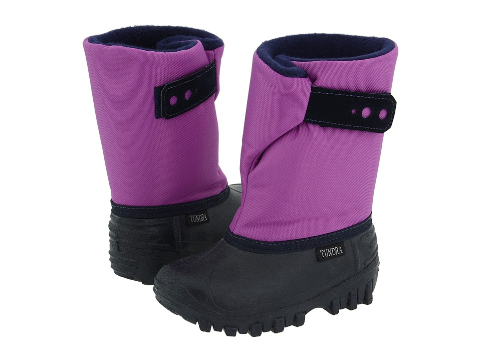 Tundra Boots Kids Teddy 4 Toddler/Little Kid Navy/Grape Girls Shoes