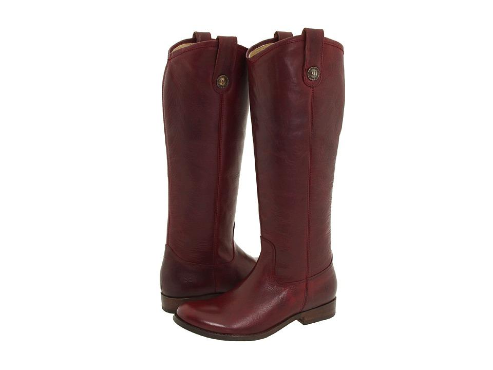 Frye Melissa Button (Bordeaux (Vintage Leather)) Western Boots