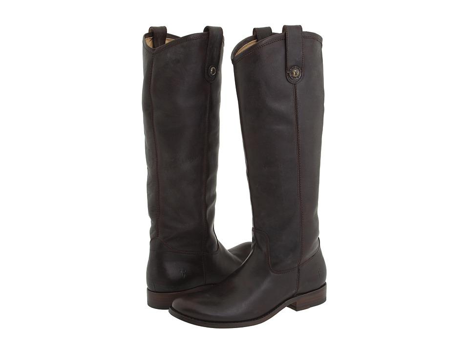 Frye Melissa Button (Dark Brown (Soft Vintage Leather)) Western Boots