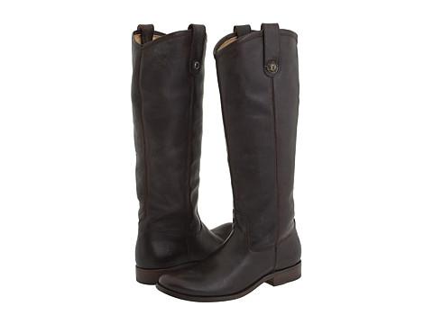 Frye Melissa Button - Dark Brown (Soft Vintage Leather)