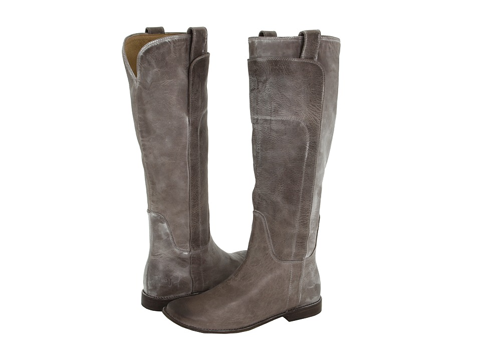 Frye Paige Tall Riding (Grey Burnished Antique Leather) Women's Pull-on Boots