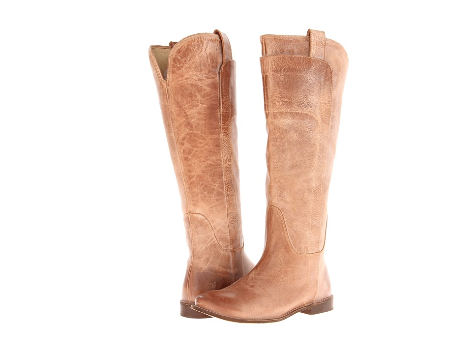 Frye Paige Tall Riding (Tan Burnished Antique Leather) Women's Pull-on Boots