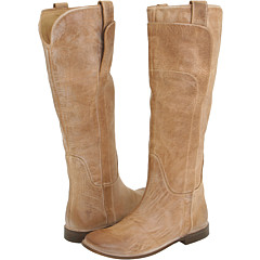 Frye - Paige Tall Riding (Tan) - Footwear